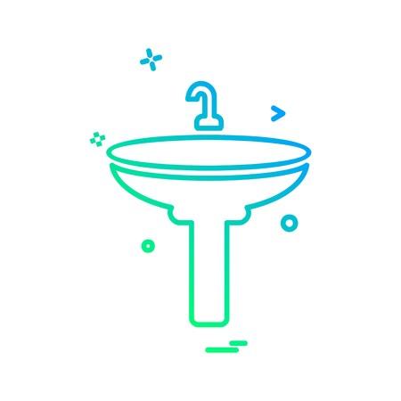 Washroom icon design vector