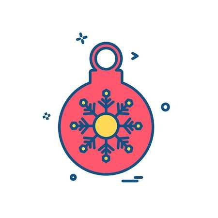 Christmas ball icon design vector