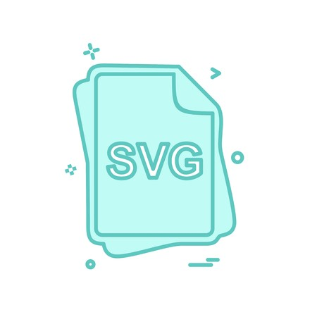 SVG file type icon design vector Illustration