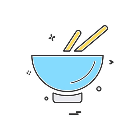 Bowl icon design vector