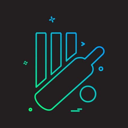 Vecteur de conception d & # 39; icône de cricket Vecteurs