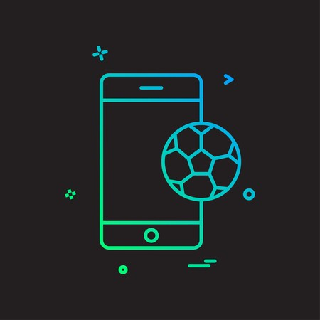 mobile football icon vector design