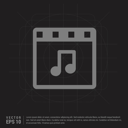 Music note icon - Black Creative Background - Free vector icon