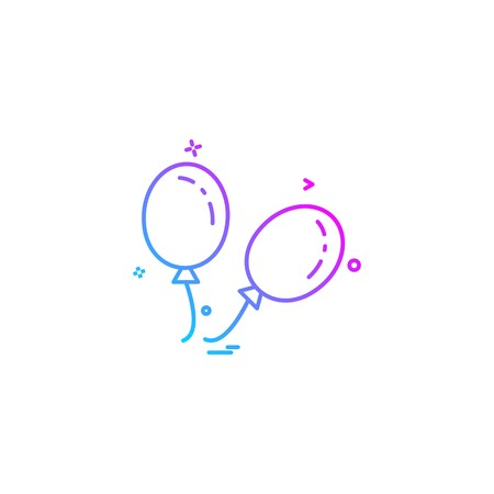 Ballons icon design vector