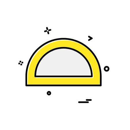 Geometry scale icon design vector Illustration