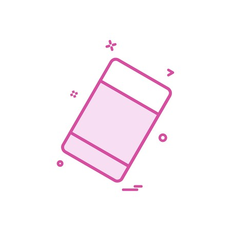 eraser school stationary icon vector design