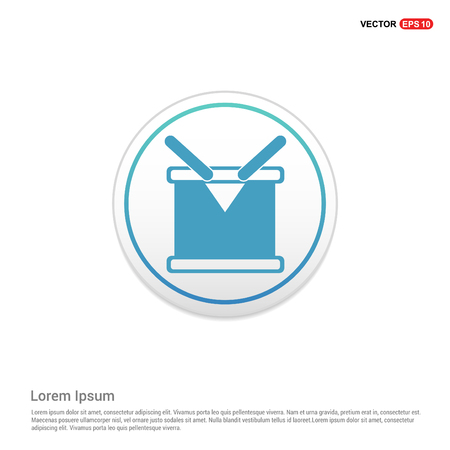 drum Icon - witte cirkel knop