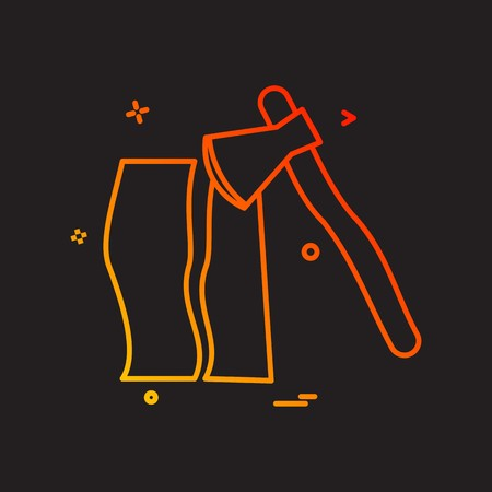 axe wood cutter icon vector