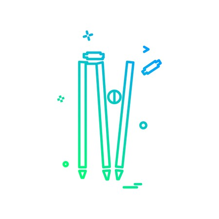 wicket out cricket icon vector design