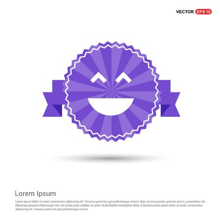 Emoji icon - Purple Ribbon banner