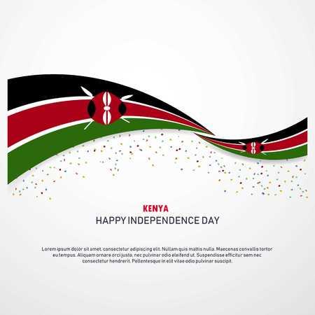 Kenya felice giorno dell'indipendenza dello sfondo