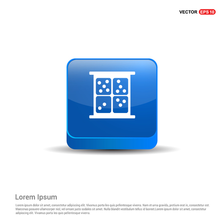 dice Icon - 3d Blue Button. Иллюстрация