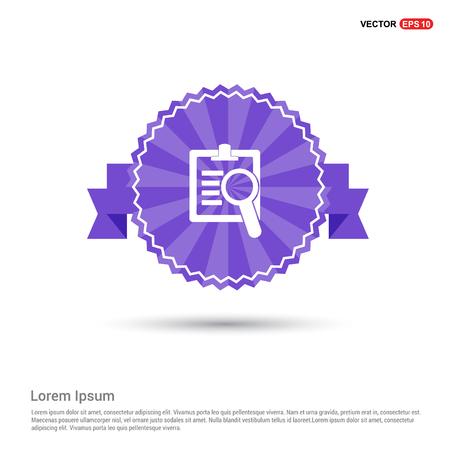 Searching Icon - Purple Ribbon banner