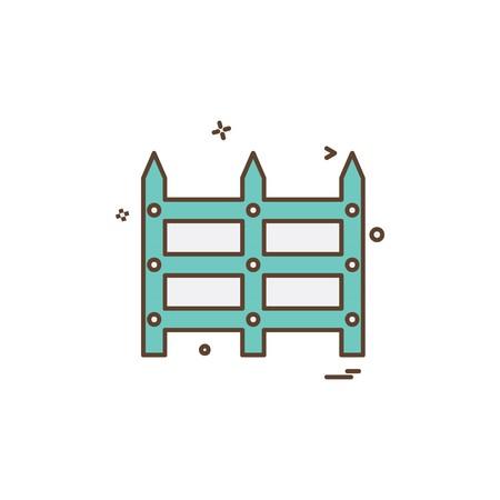 Grenzwandikonen-Designvektor
