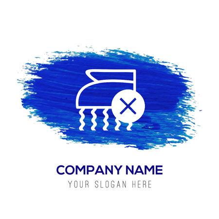 Laundry symbols icon - Blue watercolor background