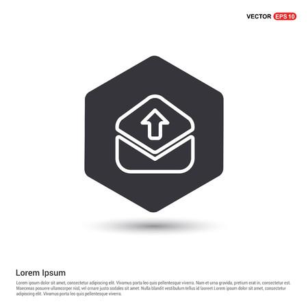message icon Hexa White Background icon template - Free vector icon