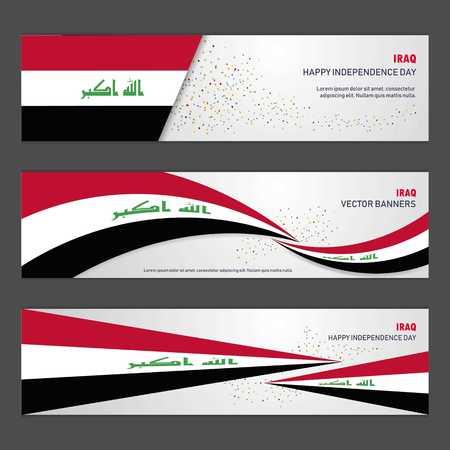 Bannière de conception de fond abstrait de la fête de l'indépendance de l'Irak et flyer, carte postale, paysage, illustration vectorielle de célébration