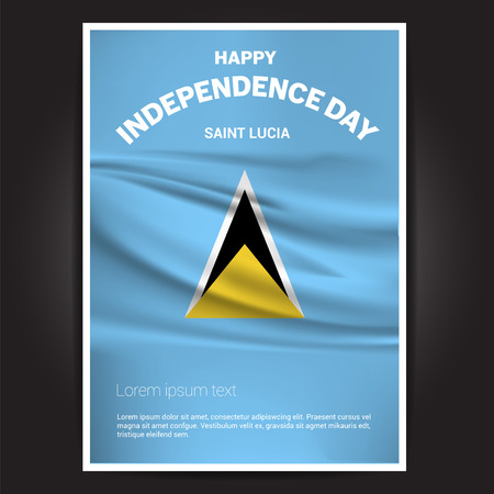 Happy Indpendence day design card vector with flags