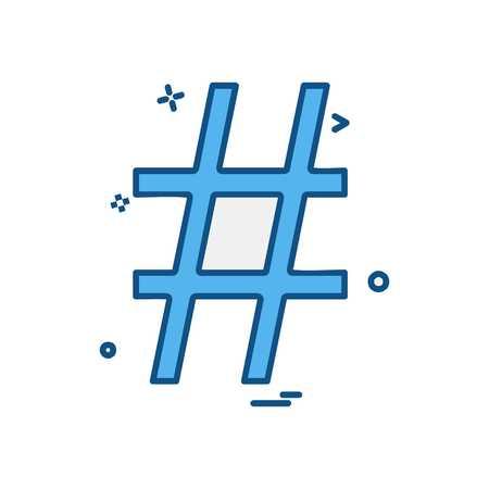 Vecteur de conception d & # 39; icône Hashtag Vecteurs