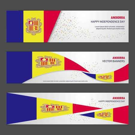 Andorra independence day abstract background design banner and flyer, postcard, landscape, celebration vector illustration