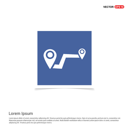 Pin on map icon - Blue photo Frame