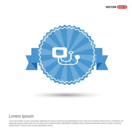 Contour medical mechanical tonometer icon Illustration
