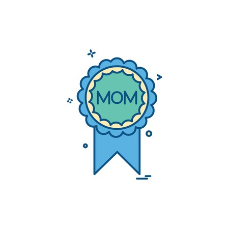 Mom badge icon design vector