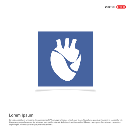 Heart icon - Blue photo Frame