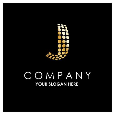 Alphabetic logo design with elegent design and typography vector