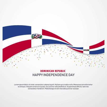 Dominican Republic Happy independence day Background Vektoros illusztráció