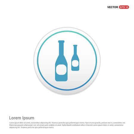 bottles icon - white circle button