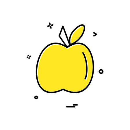 apple food furit icon vector design