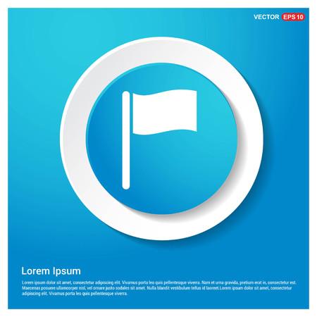 Flag icon Abstract Blue Web Sticker Button - Free vector icon Stock Vector - 109749711