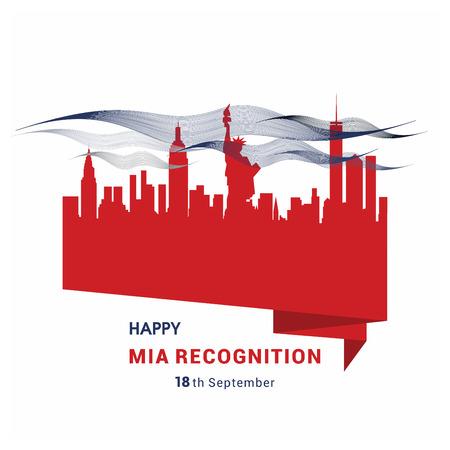 Happy Mia recognition card design vector Ilustração