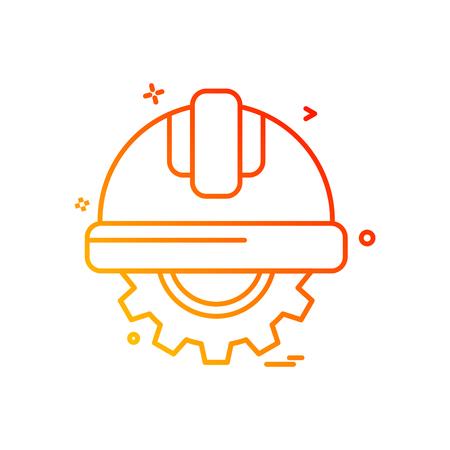 gear halmet  labor icon vector design Stock Vector - 110088018