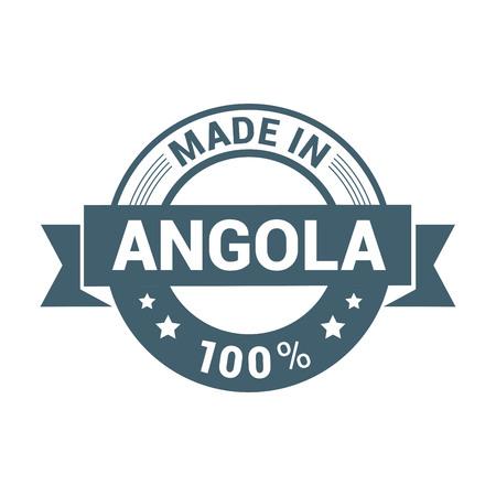 Angola stamp design vector