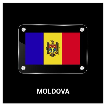 Moldova flag design vector