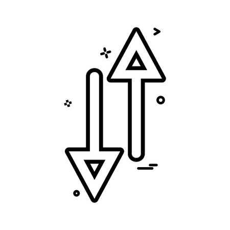 arrow up down way icon vector design