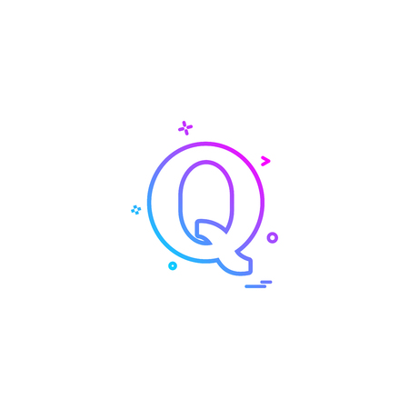 Quora icon design vector