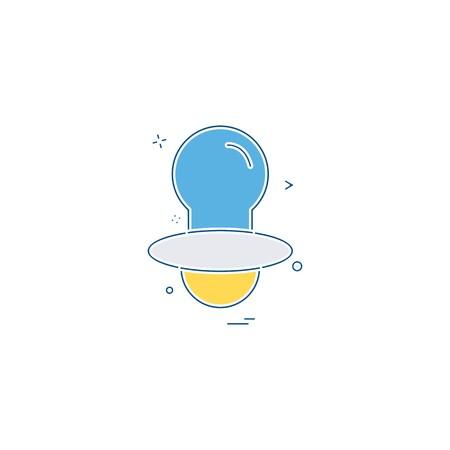 Nipple icon design vector