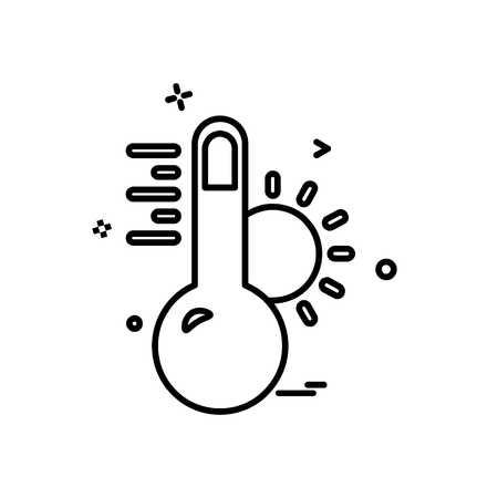 Temprature icon design vector