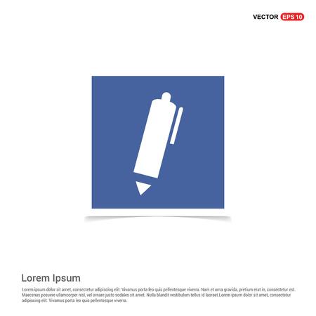 Writing pen icon - Blue photo Frame Ilustração