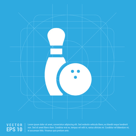 Bowling Pin and Ball Icon