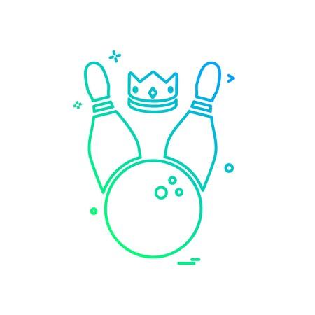 Bowling icon design vector Illustration