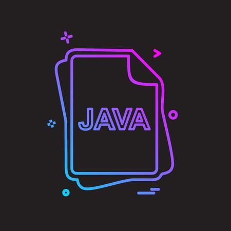 JAVA file type icon design vector Vetores