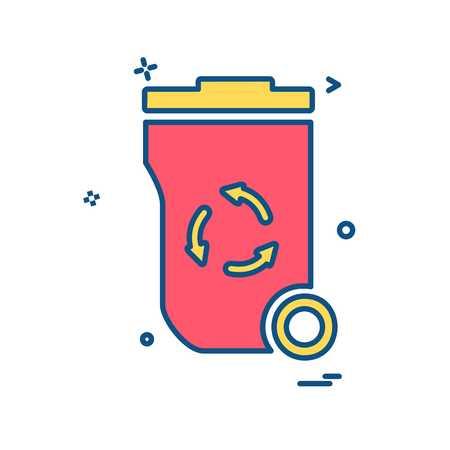 Trash icon design vector Banque d'images - 109726932