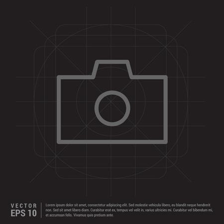 Icona fotocamera foto Vettoriali