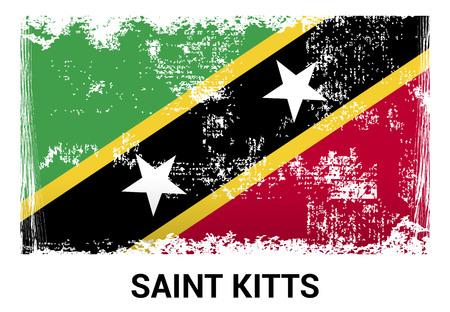 Saint Kitts flags design vector Illustration