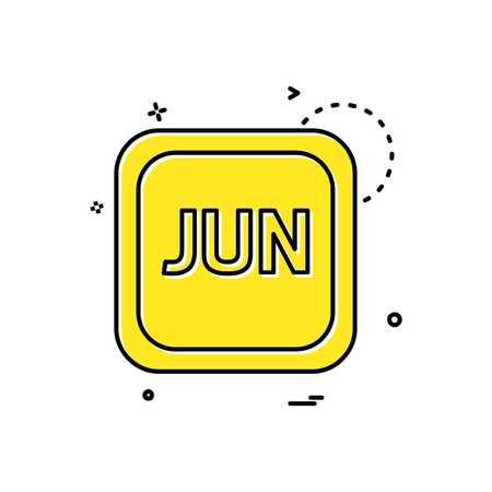 June Calender icon design vector