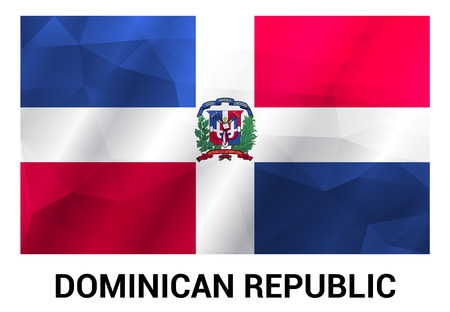 Dominican Republic flag design vector